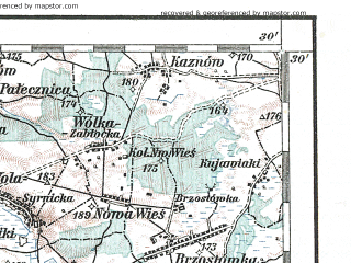 Reduced fragment of topographic map de--aut--200k--40-51--(1917)--N051-30_fE039-30--N050-30_fE040-30; towns and cities Lublin, Stalowa Wola, Bilgoraj, Pulawy, Swidnik