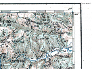 Reduced fragment of topographic map de--aut--200k--41-47--(1913)--N047-30_fE040-30--N046-30_fE041-30; towns and cities Cluj-napoca, Turda, Zalau, Huedin, Jibou