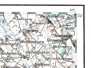 Reduced fragment of topographic map de--aut--200k--41-52--(1913)--N052-30_fE040-30--N051-30_fE041-30; towns and cities Brest, Biala Podlaska, Wlodawa, Parczew, Stradech