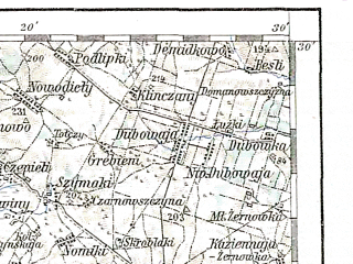 Reduced fragment of topographic map de--aut--200k--41-53--(1913)--N053-30_fE040-30--N052-30_fE041-30; towns and cities Bialystok, Bielsk Podlaski, Hajnowka, Lapy, Sokolka
