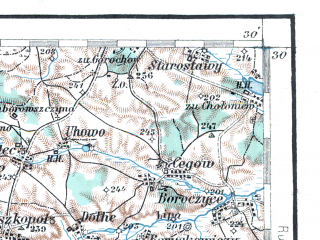 Reduced fragment of topographic map de--aut--200k--42-50--(1915)--N050-30_fE041-30--N049-30_fE042-30; towns and cities L'vov, Chervonograd, Nesterov, Nikolayev, Sokal'