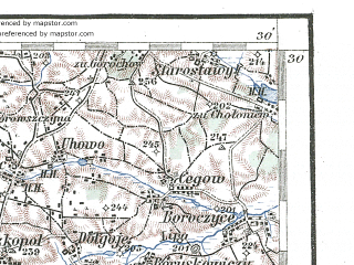 Reduced fragment of topographic map de--aut--200k--42-50--(1924)--N050-30_fE041-30--N049-30_fE042-30; towns and cities L'vov, Chervonograd, Nesterov, Sokal', Nikolayev