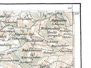 Reduced fragment of topographic map de--aut--200k--43-41--(1907)--N041-30_fE042-30--N040-30_fE043-30; towns and cities Komotini, Xanthi, Zlatograd, Krumovgrad, Ziloti