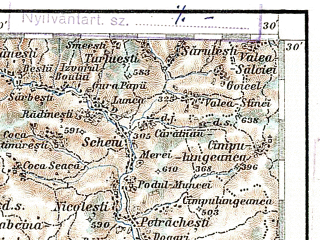 Reduced fragment of topographic map de--aut--200k--44-45--(1905)--N045-30_fE043-30--N044-30_fE044-30; towns and cities Ploiesti, Buzau, Baicoi, Urziceni, Maneciu