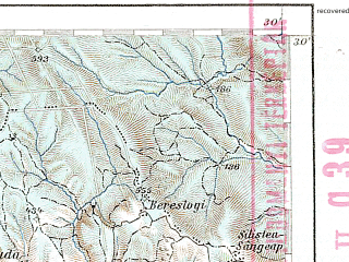 Reduced fragment of topographic map de--aut--200k--44-47--(1907)--N047-30_fE043-30--N046-30_fE044-30; towns and cities Piatra Neamt, Pascani, Tirgu Neamt, Bicaz, Faliceni