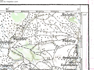 Reduced fragment of topographic map de--aut--200k--48-51--(1891)--N051-30_fE047-30--N050-30_fE048-30; towns and cities Brovary, Irpen', Bucha, Chernobyl', Vyshgorod