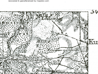 Reduced fragment of topographic map de--kdr--100k--045--(1893)--N054-45_fE035-00--N054-30_fE035-30; towns and cities Lebork