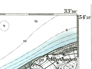 Reduced fragment of topographic map de--kdr--100k--093--(1893)--N054-15_fE033-00--N054-00_fE033-30; towns and cities Kolobrzeg