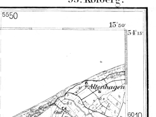 Reduced fragment of topographic map de--kdr--100k--093--(1938)--N054-15_fE033-00--N054-00_fE033-30; towns and cities Kolobrzeg