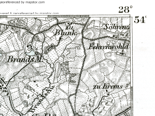 Reduced fragment of topographic map de--kdr--100k--113--(1893)--N054-00_fE027-30--N053-45_fE028-00; towns and cities Bad Bramstedt, Bad Segeberg