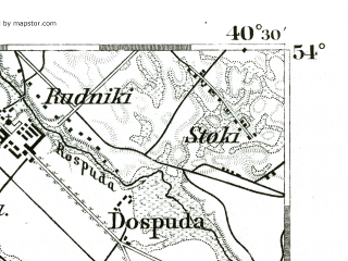 Reduced fragment of topographic map de--kdr--100k--138--(1893)--N054-00_fE040-00--N053-45_fE040-30; towns and cities Elk, Raczki