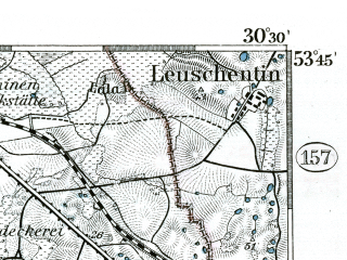 Reduced fragment of topographic map de--kdr--100k--151--(1893)--N053-45_fE030-00--N053-30_fE030-30 in area of Malchiner See, Torgelower See; towns and cities Waren, Malchin