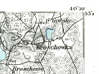 Reduced fragment of topographic map de--kdr--100k--171--(1893)--N053-45_fE040-00--N053-30_fE040-30; towns and cities Grajewo