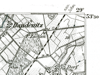Reduced fragment of topographic map de--kdr--100k--180--(1893)--N053-30_fE028-30--N053-15_fE029-00; towns and cities Lubtheen, Hagenow
