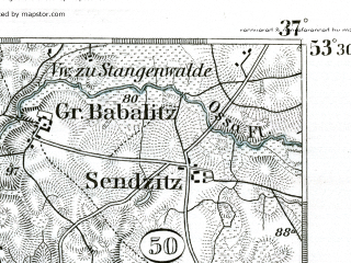 Reduced fragment of topographic map de--kdr--100k--196--(1893)--N053-30_fE036-30--N053-15_fE037-00; towns and cities Wabrzezno, Jablonowo Pomorskie
