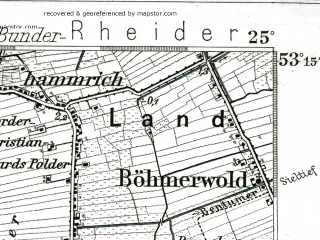Reduced fragment of topographic map de--kdr--100k--203--(1904)--N053-15_fE024-30--N053-00_fE025-00; towns and cities Winschoten