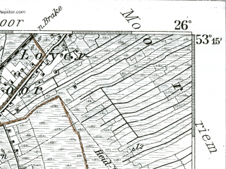 Reduced fragment of topographic map de--kdr--100k--205--(1904)--N053-15_fE025-30--N053-00_fE026-00 in area of Zwischenahner Meer; towns and cities Oldenburg, Zwischenahn, Friesoythe, Rastede