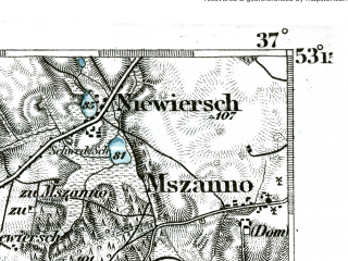 Reduced fragment of topographic map de--kdr--100k--227--(1893)--N053-15_fE036-30--N053-00_fE037-00; towns and cities Golub-dobrzyn, Kowalewo Pomorskie