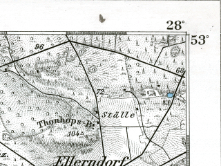 Reduced fragment of topographic map de--kdr--100k--237--(1894)--N053-00_fE027-30--N052-45_fE028-00; towns and cities Bergen, Munster, Soltau