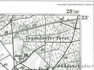 Reduced fragment of topographic map de--kdr--100k--238--(1904)--N053-00_fE028-00--N052-45_fE028-30; towns and cities Uelzen