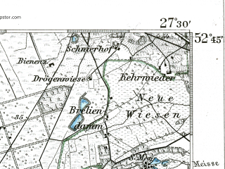 Reduced fragment of topographic map de--kdr--100k--261--(1904)--N052-45_fE027-00--N052-30_fE027-30; towns and cities Neustadt Am Rubenberge