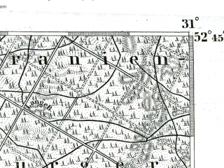 Reduced fragment of topographic map de--kdr--100k--268--(1893)--N052-45_fE030-30--N052-30_fE031-00 in area of Tegeler See; towns and cities Oranienburg