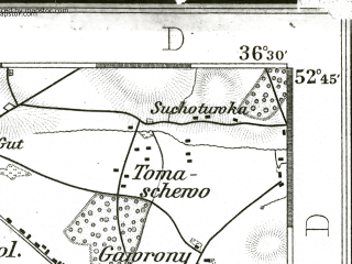 Reduced fragment of topographic map de--kdr--100k--279--(1893)--N052-45_fE036-00--N052-30_fE036-30; towns and cities Kruszwica, Piotrkow Kujawski, Radziejow