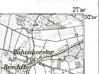 Reduced fragment of topographic map de--kdr--100k--286--(1899)--N052-30_fE027-00--N052-15_fE027-30; towns and cities Hannover, Wunstorf