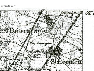 Reduced fragment of topographic map de--kdr--100k--314--(1893)--N052-15_fE029-00--N052-00_fE029-30; towns and cities Magdenburg, Schonebeck