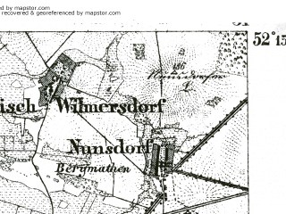 Reduced fragment of topographic map de--kdr--100k--317--(1893)--N052-15_fE030-30--N052-00_fE031-00; towns and cities Luckenwalde