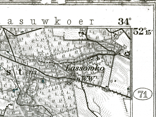 Reduced fragment of topographic map de--kdr--100k--323--(1898)--N052-15_fE033-30--N052-00_fE034-00; towns and cities Wolsztyn, Rakoniewice, Kargowa