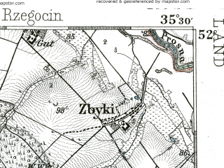 Reduced fragment of topographic map de--kdr--100k--350--(1893)--N052-00_fE035-00--N051-45_fE035-30; towns and cities Jarocin, Pleszew, Kozmin