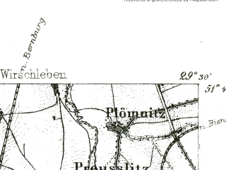 Reduced fragment of topographic map de--kdr--100k--363--(1893)--N051-45_fE029-00--N051-30_fE029-30; towns and cities Eisleben, Hettstedt