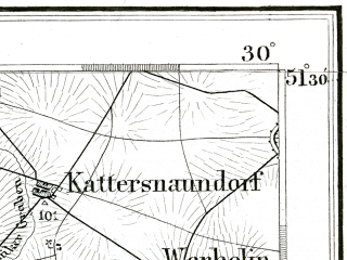 Reduced fragment of topographic map de--kdr--100k--389--(1892)--N051-30_fE029-30--N051-15_fE030-00; towns and cities Halle, Merseburg