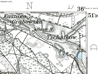 Reduced fragment of topographic map de--kdr--100k--401--(1892)--N051-30_fE035-30--N051-15_fE036-00; towns and cities Ostrzeszow, Wieruszow