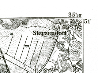 Reduced fragment of topographic map de--kdr--100k--451--(1893)--N051-00_fE035-00--N050-45_fE035-30; towns and cities Brzeg, Lewin Brzeski