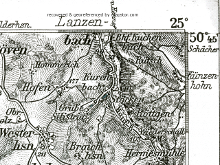 Reduced fragment of topographic map de--kdr--100k--457--(1898)--N050-45_fE024-30--N050-30_fE025-00; towns and cities Bonn, Bad Neuenahr Ahrweiler, Konigswinter