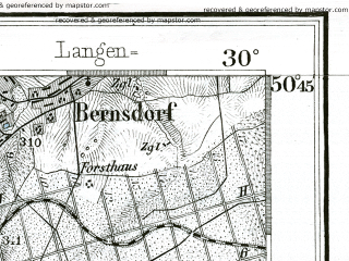 Reduced fragment of topographic map de--kdr--100k--467--(1892)--N050-45_fE029-30--N050-30_fE030-00 in area of Stausee Pohl; towns and cities Plauen, Greiz