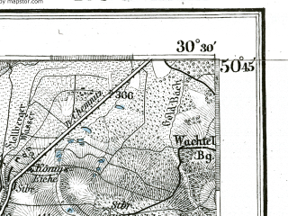 Reduced fragment of topographic map de--kdr--100k--468--(1892)--N050-45_fE030-00--N050-30_fE030-30 in area of Eibenstock Stausee; towns and cities Zwickau, Aue, Auerbach, Schwarzenberg, Stollberg