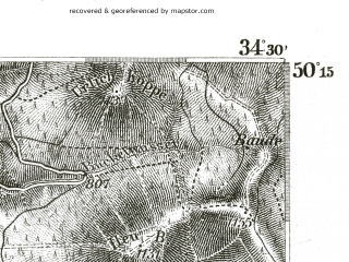 Reduced fragment of topographic map de--kdr--100k--516--(1893)--N050-15_fE034-00--N050-00_fE034-30; towns and cities Miedzylesie