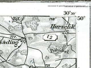 Reduced fragment of topographic map de--kdr--100k--535--(1893)--N050-00_fE030-00--N049-45_fE030-30; towns and cities Marianske Lazne, Tirschenreuth
