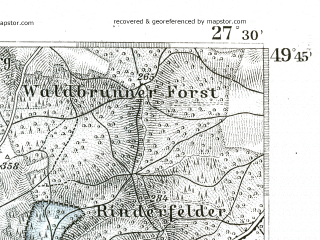 Reduced fragment of topographic map de--kdr--100k--546--(1893)--N049-45_fE027-00--N049-30_fE027-30; towns and cities Tauberbischofsheim
