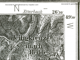 Reduced fragment of topographic map de--kdr--100k--558--(1893)--N049-30_fE026-00--N049-15_fE026-30; towns and cities Mannheim, Heidelberg, Ludwigshafen Am Rhein