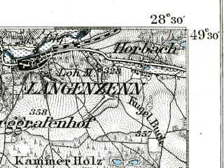 Reduced fragment of topographic map de--kdr--100k--562--(1893)--N049-30_fE028-00--N049-15_fE028-30; towns and cities Ansbach