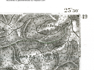 Reduced fragment of topographic map de--kdr--100k--571--(1893)--N049-15_fE025-00--N049-00_fE025-30; towns and cities Pirmasens, Zweibrucken