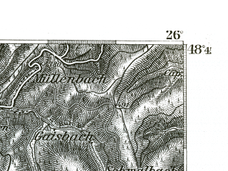 Reduced fragment of topographic map de--kdr--100k--603--(1893)--N048-45_fE025-30--N048-30_fE026-00