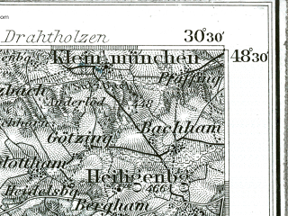 Reduced fragment of topographic map de--kdr--100k--626--(1893)--N048-30_fE030-00--N048-15_fE030-30; towns and cities Eggenfelden, Muhldorf