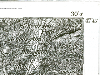 Reduced fragment of topographic map de--kdr--100k--665--(1898)--N047-45_fE029-30--N047-30_fE030-00; towns and cities Kufstein, Worgl