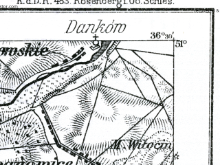 Reduced fragment of topographic map de--kdr--100k--C38--(1897)--N051-00_fE036-00--N050-45_fE036-30; towns and cities Olesno