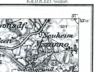 Reduced fragment of topographic map de--kdr--100k--D29--(1897)--N053-15_fE036-30--N053-00_fE037-00; towns and cities Golub-dobrzyn, Kowalewo Pomorskie